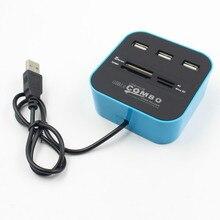 ישיר אצווה משולבת רב פונקצית USB 2.0 כרטיס קורא hub עם רכזת מפיץ SD