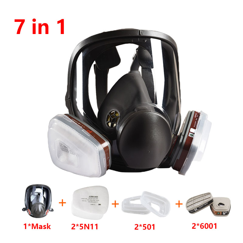 Medium Size Full Face 6800 Safety Gas Mask Face-piece Respirator Painting Spraying For Painting Chemical Laboratory Medical Mask