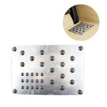 22×15 см Универсальный Автомобильный Нескользящие коврики ковры Pad стопы алюминиевый простыни DIY туалетный обычные тонкие подножки
