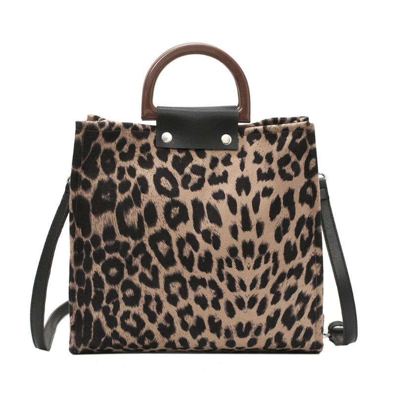 Casual Leopard Print Shoulder Handbags for Women Retro Ladies  Messenger Crossbody Bag Big Capacity Tote TotesCasual Leopard Print Shoulder Handbags for Women Retro Ladies  Messenger Crossbody Bag Big Capacity Tote Totes