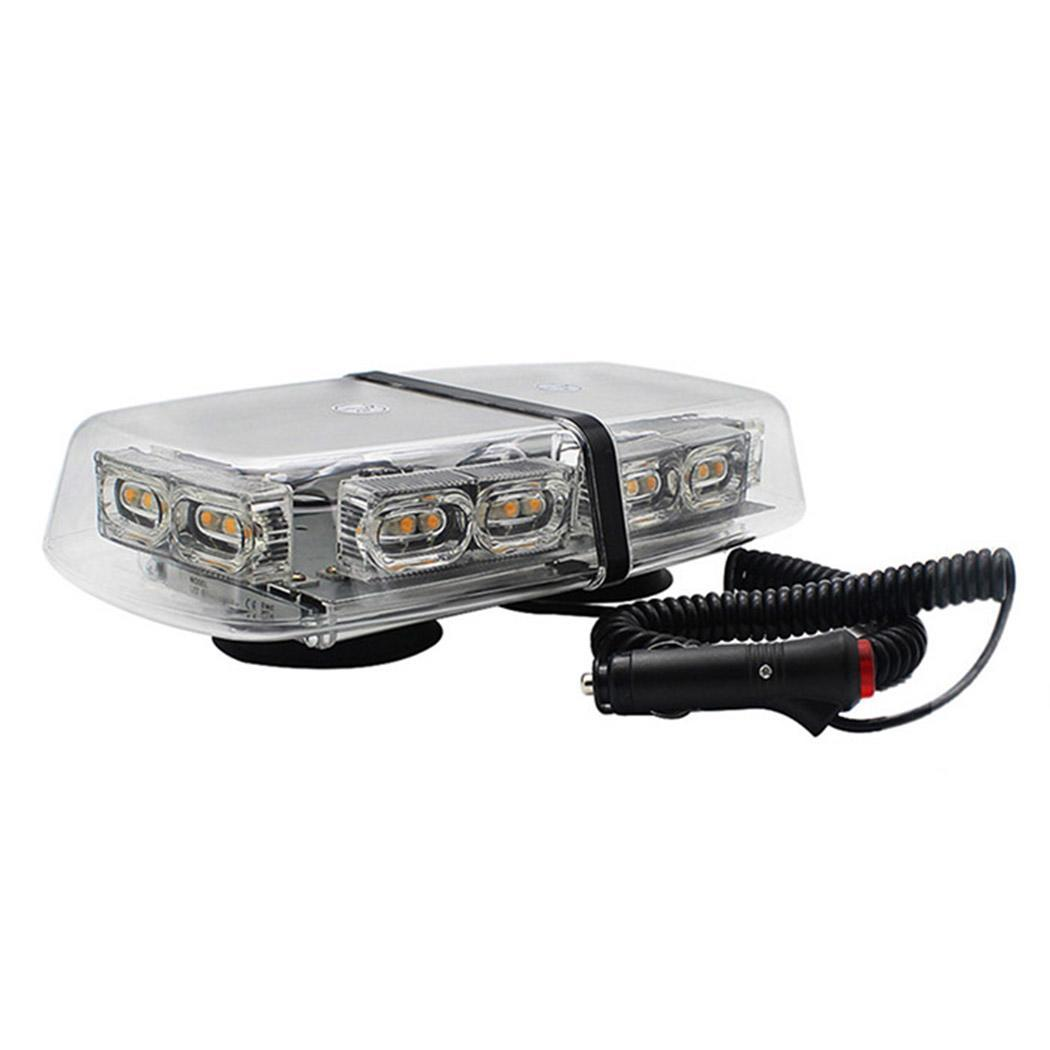 36 светодиодов вращающийся вспышка стробоскоп 7 типов Предупреждение свет DC12V 24V для 1.5A скорой помощи работы автомобиля IP65 4 м 14 кг