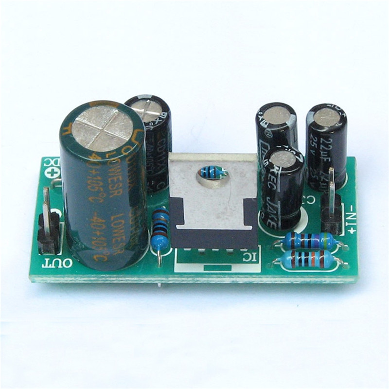 CLAITE Audio Amplifier Board Kit 18W DC 9V-24V TDA2030A  Mono Power DIY Operational Amplifier Chips For Hi-Fi Amplifier