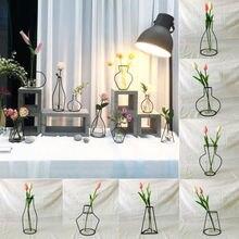 Дизайн, Креативный цветочный горшок с железной линией, ваза для растений, подставка для художника, беседка, горячая Распродажа, контейнер для террариума, домашний декор, цветочные горшки