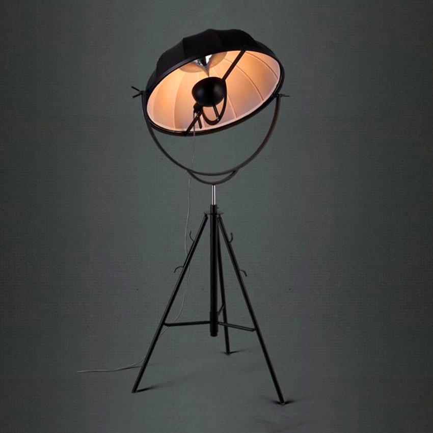 Nordic LOFT LED Floor Lamp Classic Floor Lights Photography Light Adjustable Satellite Shape Photo Studio Living Room Lamp Stand