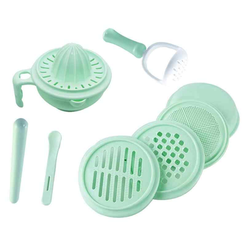 9pcs/set Baby Grinding Food Supplement Feeding Grind Food Dishes Hygiene Kit Nibbler Infants Handmade Manual Plate Cooking Tools
