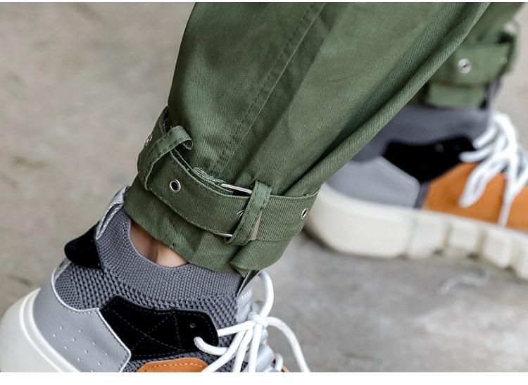 Qiukichonson Hip Hop Women Cargo Pants 2019 Europe And America Fashion High Waist Capris Trousers Army Green Harem Pants