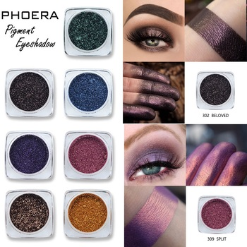 PHOERA 12 Color Shimmer Monochrome Eyeshadow Glitter Powder Waterproof Long Lasting Pro Eye Part Makeup Eye Shadow Palette TSLM2