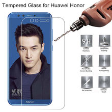 Tempered Glass For Huawei Honor 9 Lite 8C View 10 Tempered Glass For Honor 10 Lite 4X 6 7 lite Glass On for Honor 7X 8 Lite Film(China)