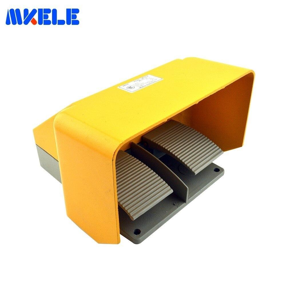 Commutateur universel de pédale de Double de la certification CE d'alliage d'aluminium 15A Double Contact MKYDT1-20 commutateur d'accessoires de Machine-outil