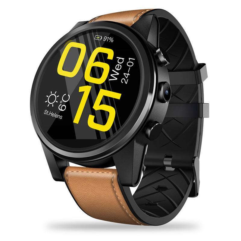 Pour Zeblaze THOR 4 PRO 4G SmartWatch Affichage à Cristaux GP GLONASS Quad Core 16 GB 600 mAh Hybride En Cuir bretelles Montre Smart Watch Pour Hommes