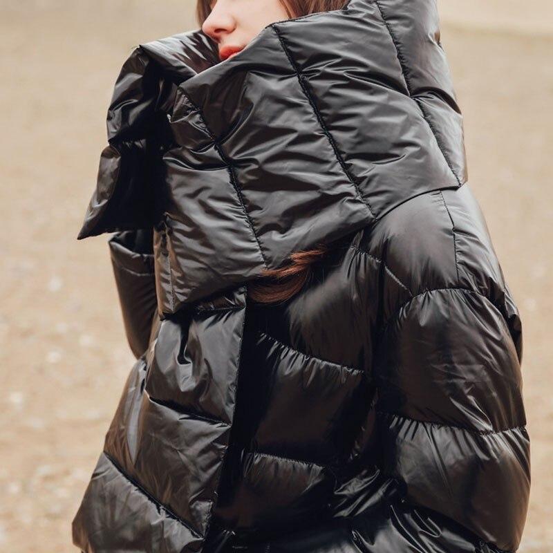 2019 Veste Jl468 Nouveau Femmes Taille Longues Grande Manteau Lâche Bas Le Vers Manches Avec Écharpe Printemps Hiver De Montant Mode Black Noir eam À Col Aqadwq