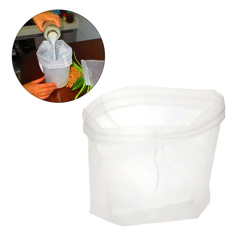 1pc Nylon Reusable Mesh Food Strainer Nut Milk Bag Almond Milk Bags Commercial Food Grade Cheese Maker Coffee Tea Filter