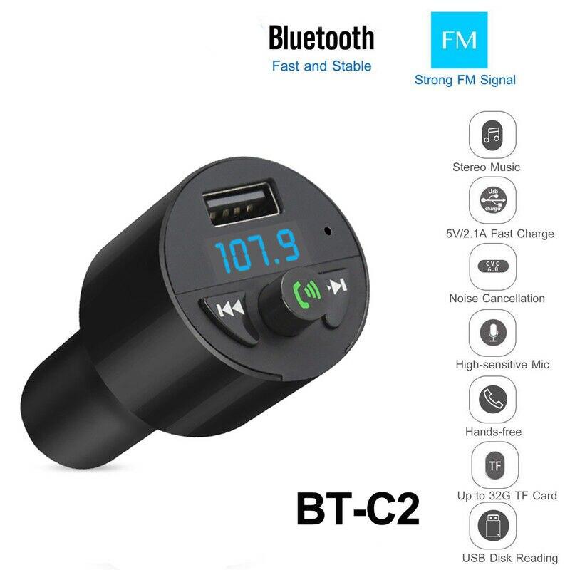 Bluetooth FM Transmitter MP3 Player 2USB Stick KFZ Auto SD AUX Freisprechanlage