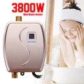 Calentador de agua caliente grifo cocina calefacción 3800 W Mini termostato instantáneo sin tanque US/UE enchufe inteligente ahorro de energía impermeable