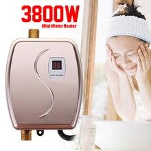 Горячие водонагреватель кран кухня нагрева 3800 Вт мини Tankless мгновение термостат США/ЕС Plug интеллектуальные энергосберегающие Водонепроницаемый