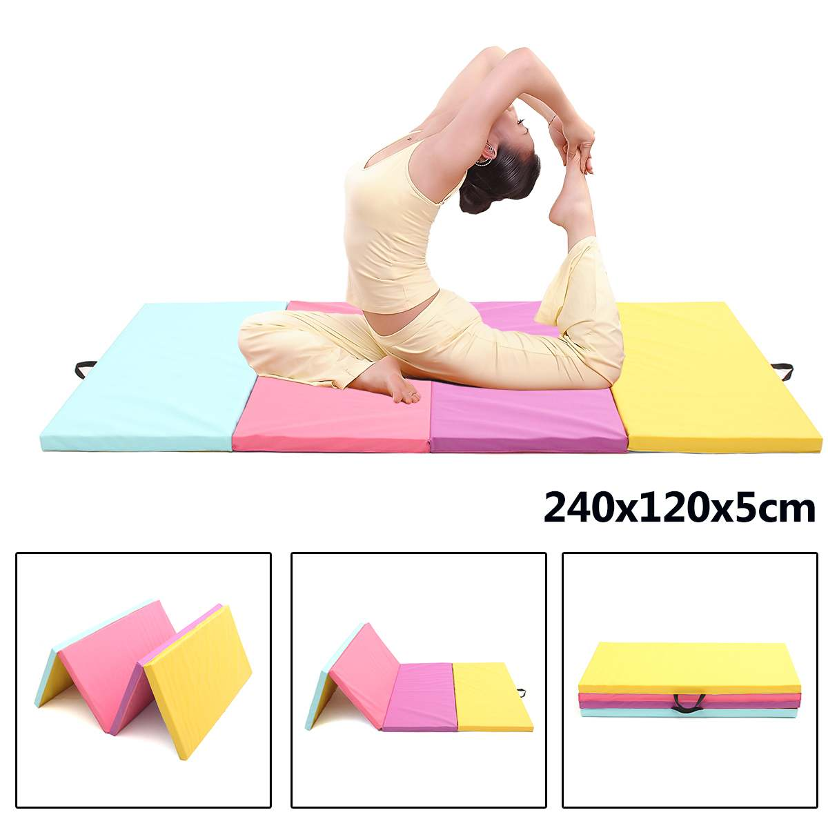 Fitness & Body Building Humor Foldable Gymnastics Mats Indoor Sports Folding Fitness Gym Exercise Yoga Mat Pad Outdoor Training Body Building Mattress Attractive Fashion Sports & Entertainment