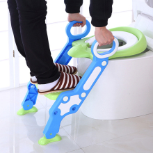 Baby Potty Training Adjustable Ladder Potty Infant Kids Folding Safety Child Seats Urinal Toilet Trainer Seat Pot For Children baby toddler potty toilet trainer safety seat chair step with adjustable ladder infant toilet training non slip folding seat