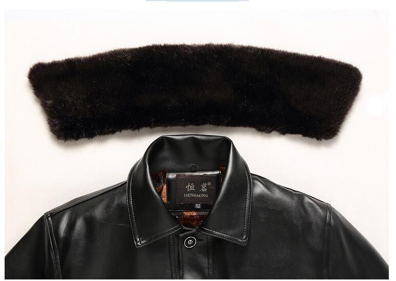 Épais Plus Pour Papa Taille 4xl Manteau Âge À 3630 Noir Brun Chaud Veste Col Pu Revers Hiver Survêtement Moyen Polaire Hommes Casual Chaude qRfg4