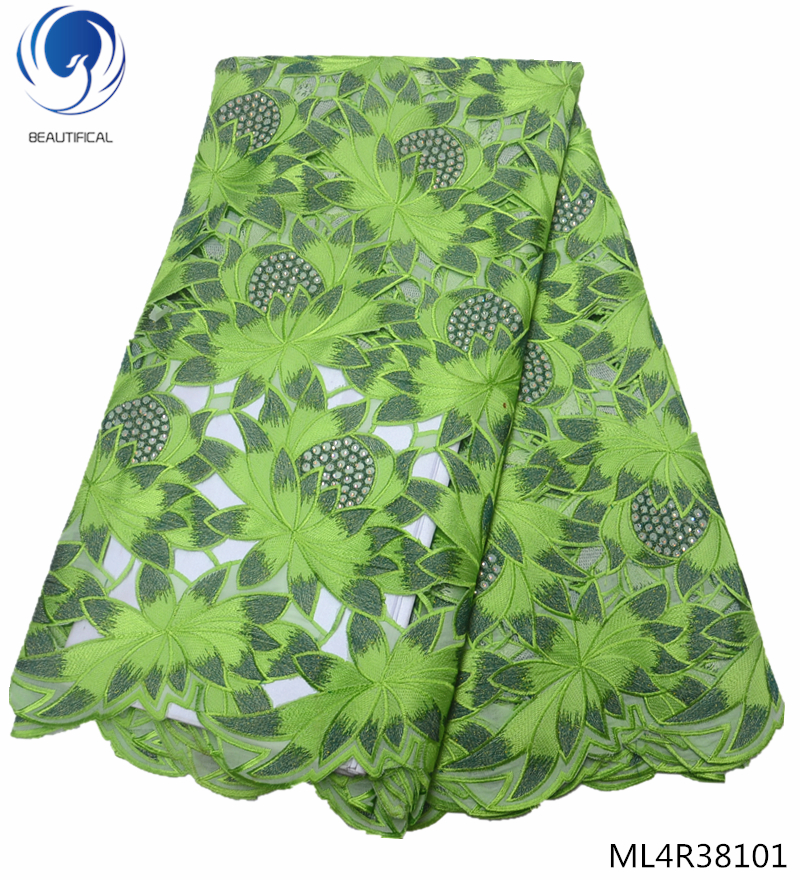 BEAUTIFICAL green swiss lace fabric 2019 voile fabrics laces with rhinestones swiss laces fabrics for women 5yards ML4R381BEAUTIFICAL green swiss lace fabric 2019 voile fabrics laces with rhinestones swiss laces fabrics for women 5yards ML4R381