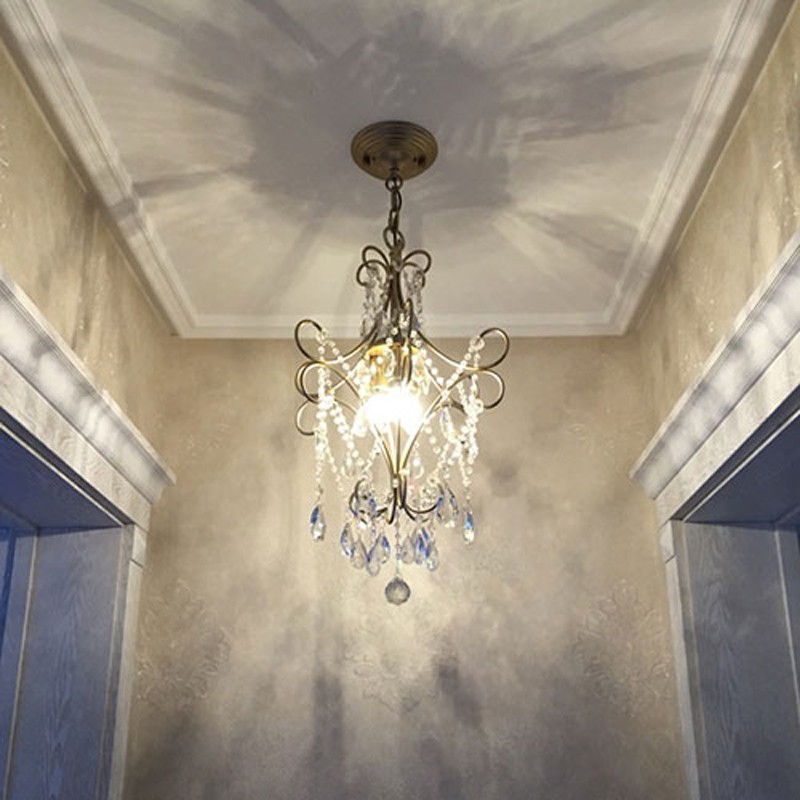 Dynamic Retro 1 Pcs Pendant Lamp For Dining Room Corridor Led Crystal Hanging Light Industrial Suspending Lights Villa Hotel Fixtures High Quality Goods Lights & Lighting Chandeliers