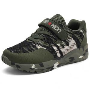 Image 2 - Летняя детская спортивная обувь, военные тренировочные камуфляжные кроссовки для мальчиков, армейский зеленый цвет, Детская уличная обувь для бега, кроссовки для девочек