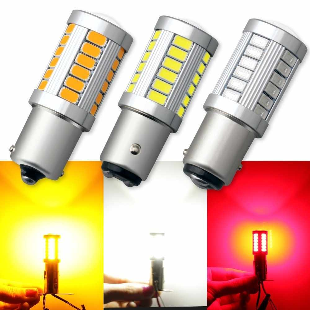 1 Piece Universal 1157 BAY15D 1156 Ba15s 33SMD Super Bright LED Turn Tail Brake Stop Signal Light Lamp Bulb 12V