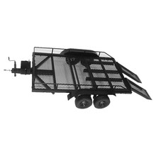 Trailer Car Heavy-Duty Cargo Carrier Metal Kit for 1:10 RC Cars Traxxas HSP Redcat RC4WD Tamiya Axial SCX10 D90 HPI RC Crawler(China)