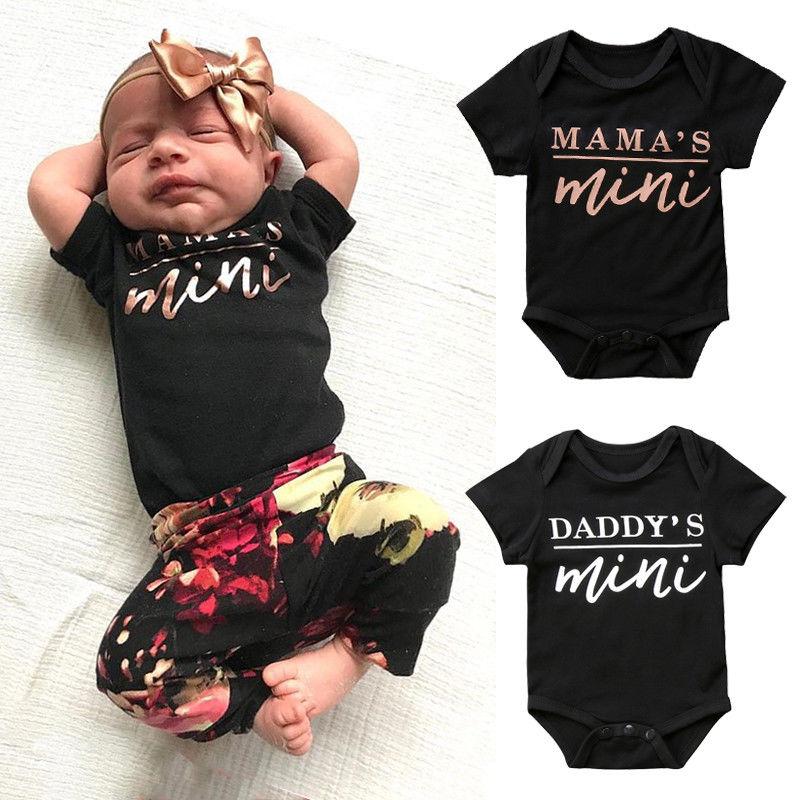 4f085009b4 Pudcoco bebé monos de bebé recién nacido niños niñas papá mamá mono ropa  trajes - a.spelacasino.me