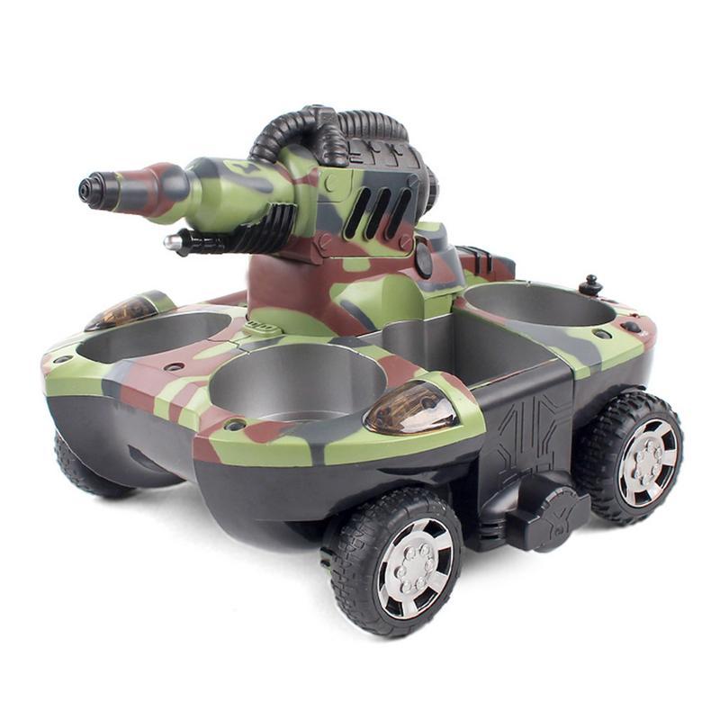 RC tanque anfibio Radio Control Rc Kit tierra agua robótica Control remoto tanque juguete para niños modelo Rc plástico militar batalla de juguete