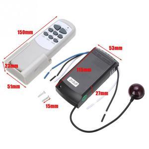Image 4 - Casa lâmpada universal digital sem fio ventilador de teto luz tempo controle remoto 220/240v 50hz 2w