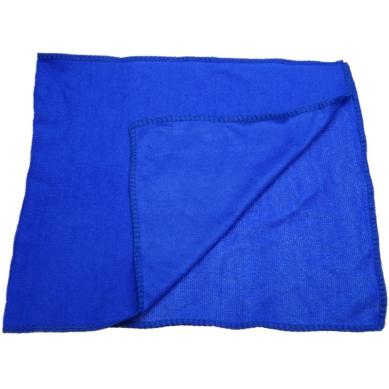 Image 2 - 10Pcs Blue Car Soft Microfiber Cleaning Towel Absorbent Washing Cloth Square for Home Kitchen Bathroom Towels Auto Care 30x30cm-in Car Washer from Automobiles & Motorcycles
