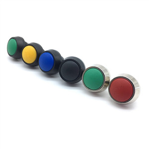 1pcs 12mm Waterproof Momentary 1NO Domed Push Button Switch Screw Feet Self-Reset Button Alumina Black Button 5 Color