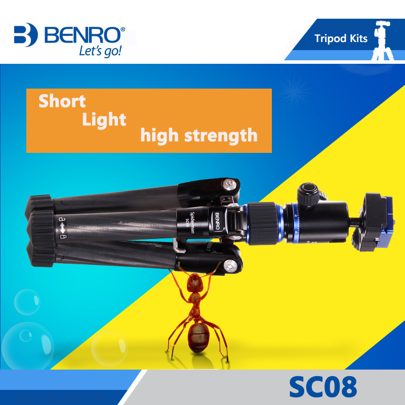 Benro Sc08 Tripod Mini Portable Tripods For Camera With B00G Ball Head 4 Section Free Shipping