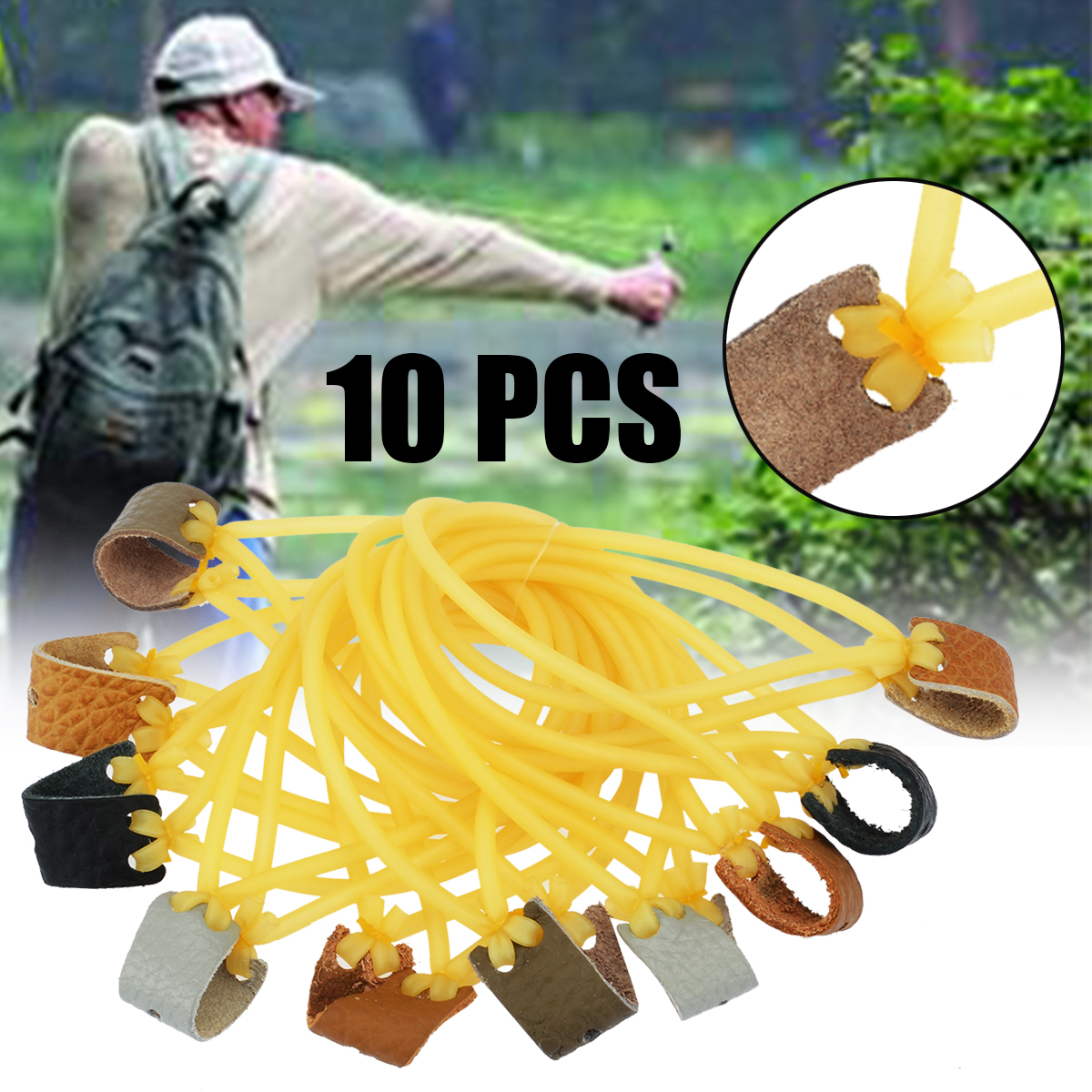 10Pcs/ Lot Elastic Bungee Rubber Band Portable Durable Elastic Outdoor Tools For Slingshot Outdoor Hunting