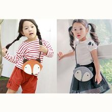 Toddler Kids Baby Cute Small Fox Cartoon Bag Mini School Bag Children Lovely Girls Shoulder Purse Gray Orange Color Girl Bag Kid(China)