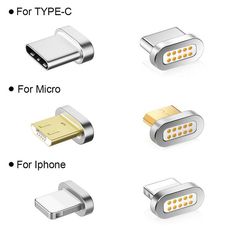 Magnetic Transfer Connector Magnetic Micro USB Connector Adapter  IOS Android Type-C Magnetic Adapter(China)