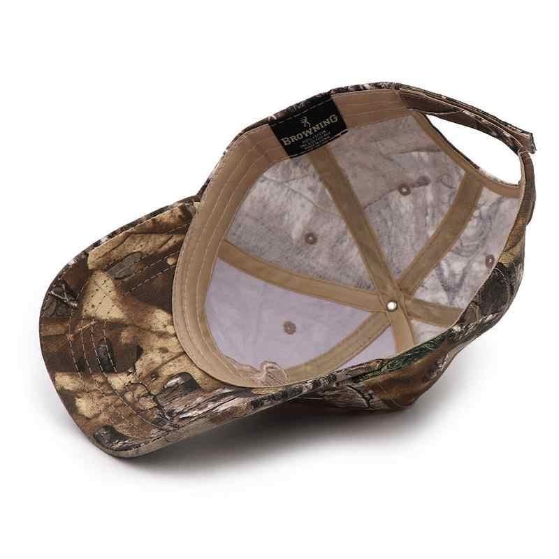 Browning caça camuflagem boné de beisebol boné de pesca dos homens do exército ao ar livre caça chapéu airsoft tático caminhadas camo casquette hat