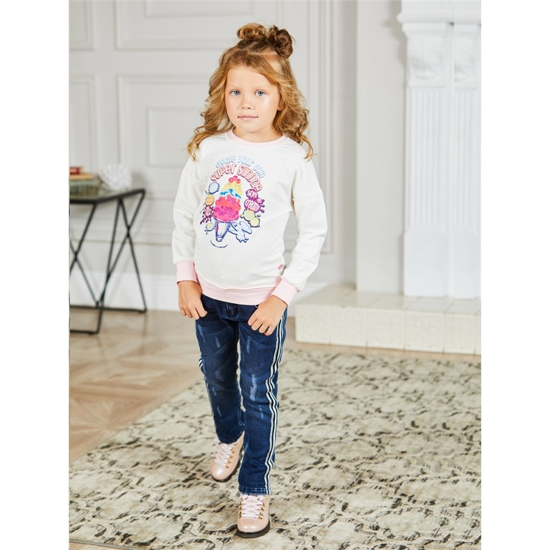 T-Shirts Sweet Berry Knitted sweatshirt for girls children clothing kid clothes knitted funny beanie for children