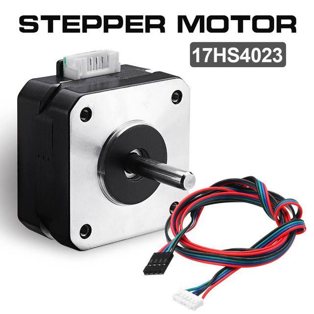 1 Pcs 17HS4023 12 V Nema 17 23 milímetros Stepper Motor Para Impressora Extrusora 3D Titan Motor com Fio Kit