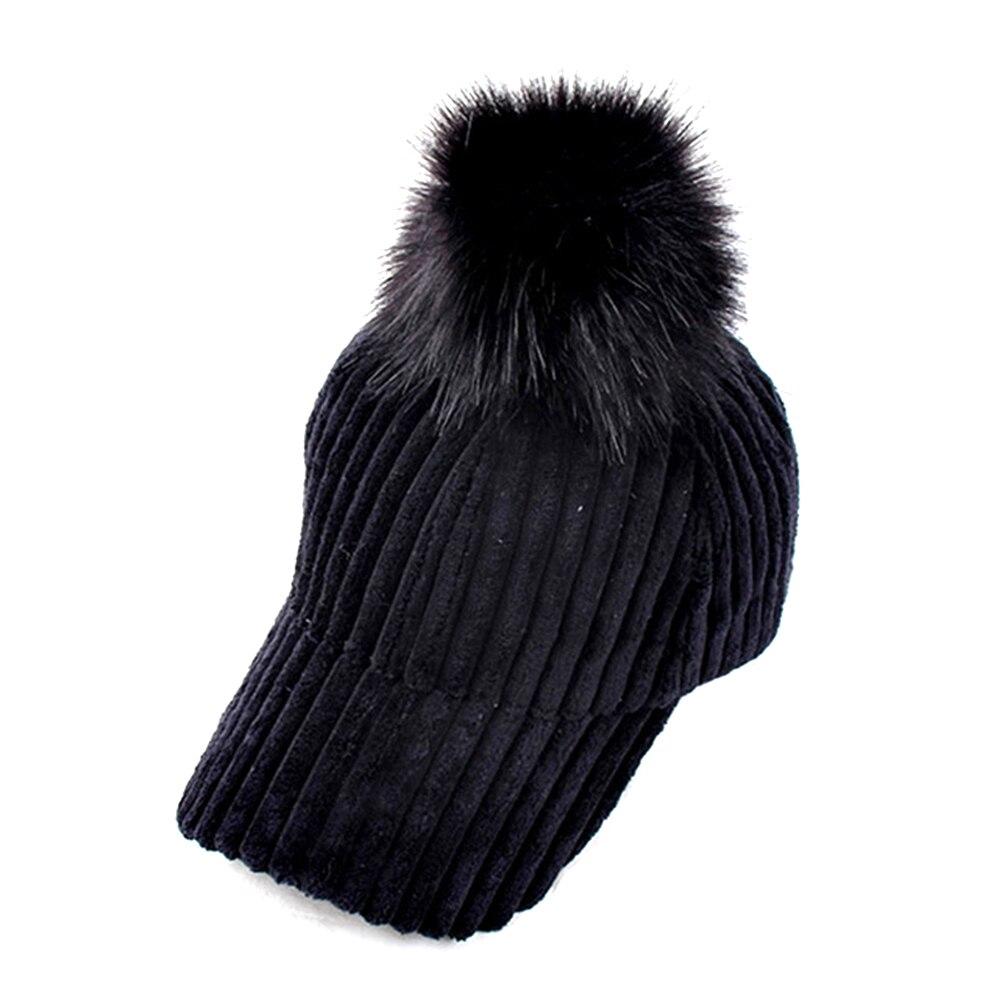 Hingebungsvoll Cord Haar Ball Einstellbar Weibliche Hut 2018 Neue Mode Winter Herbst Frauen Warme Einfarbig Hut Damen Beiläufige Elegante Kappe Neue Sorten Werden Nacheinander Vorgestellt