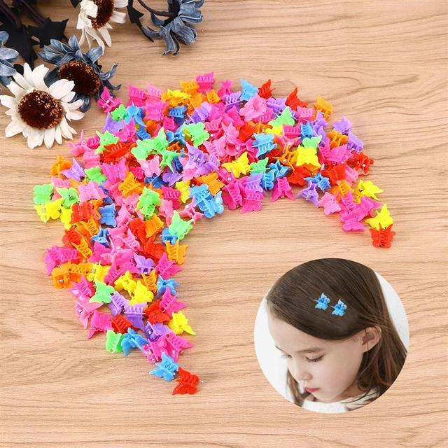 100 Pieces Butterfly Hair Clips Claw Barrettes Mixed Color Mini Jaw Clip Hairpin Hair Accessories for Women and Girls 5