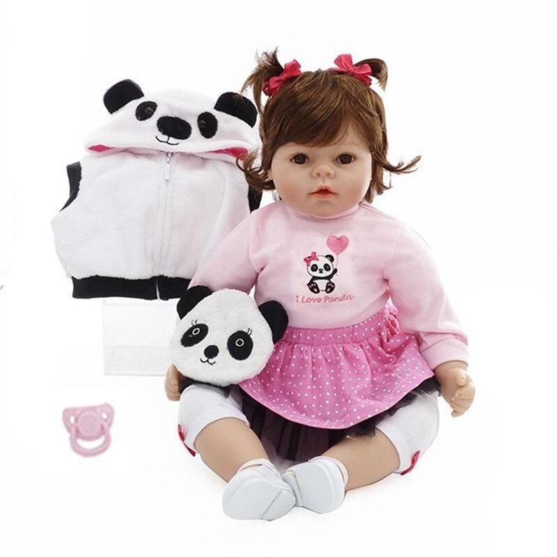 NPK New 50cm Silicone Reborn Super Baby Lifelike Toddler Baby Bonecas Kid Doll Bebe Reborn Brinquedos