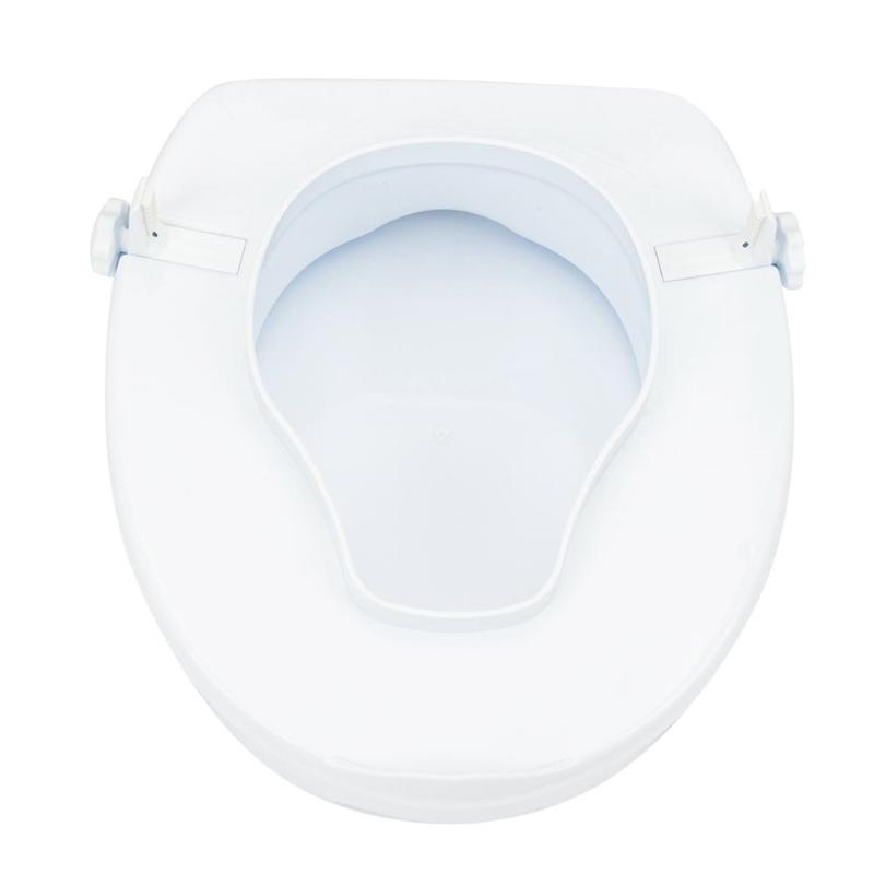Anti Slip Removable Comfortable Raised Elevated Toilet Seat with Cover Toilet Cushion Cover Paste Washable Bathroom Accessories