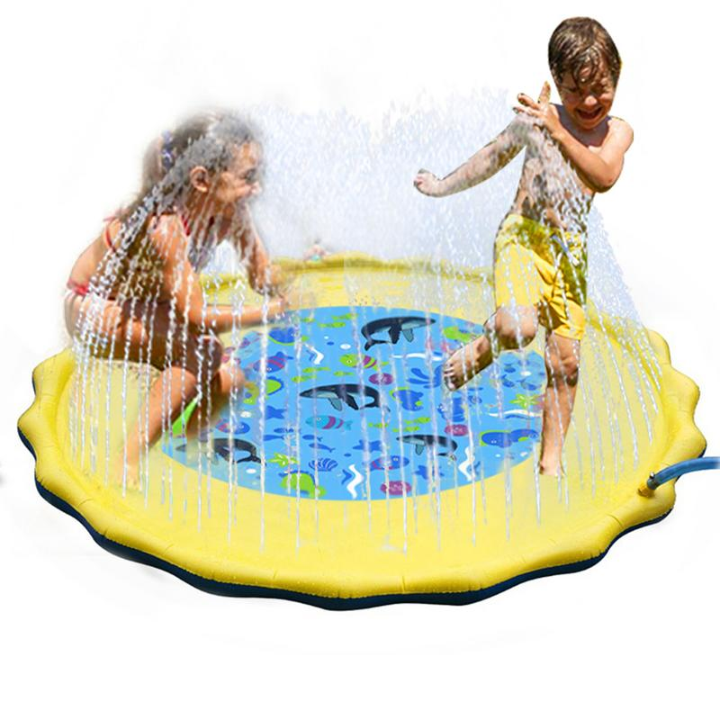 Water Sprinkler Spray Mat Children's Lawn Play Mat PVC Inflatable Summer Water Spray Family Parent child Interaction Toys