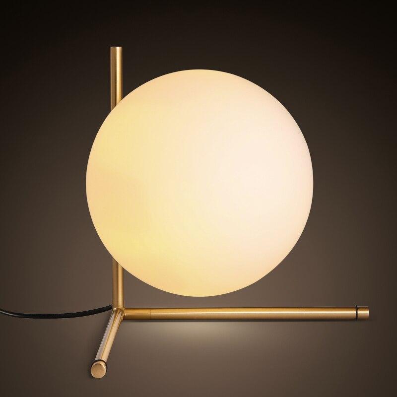 Style moderne boule de verre Tabel lampe scandinave minimaliste chambre lampe de chevet décoration personnalisée boule lampe