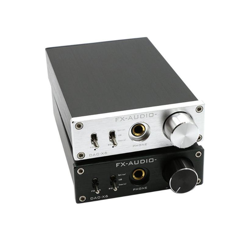 Silver/Black FX-Audio DAC-X6 HiFi Optical Coaxial USB Digital Audio Amplifier DAC Decoder With 12V Power Supply sim audio moon neo 340i d2 dac black silver