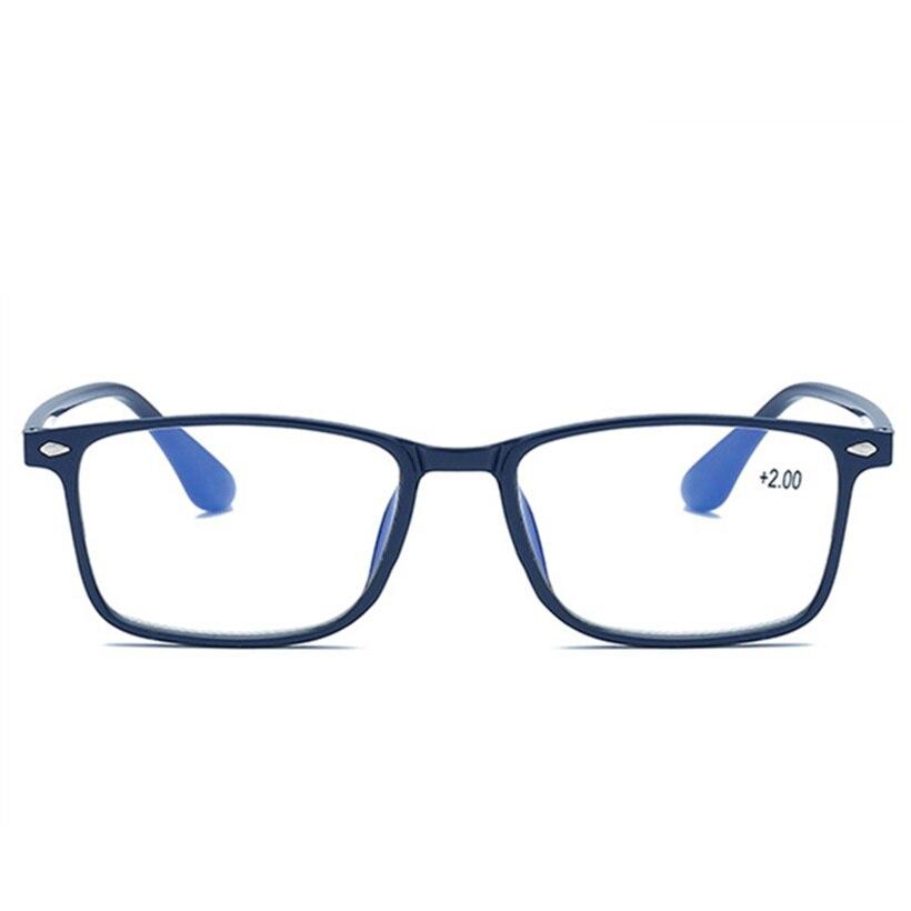 Очки для чтения с синей пленкой для мужчин и женщин, мужские очки TR90, прямоугольные очки для дальнозоркости 1,5 для света, пресбиопические рет...