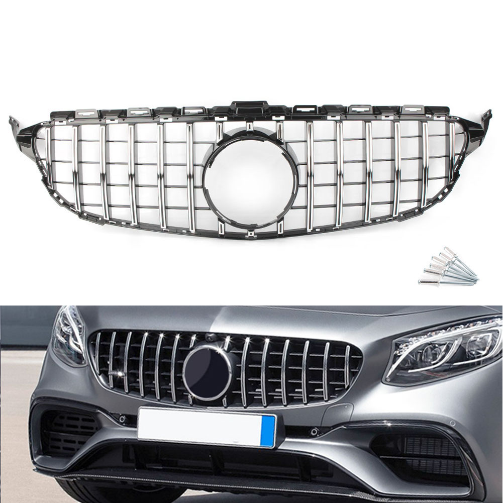 Aliexpress Com Buy Chrome Front Upper Grill Grille For