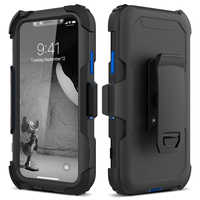 3 in 1 Phone Case For iphone 11 pro X Xs Max 7 8 6 6s Plus Cover Belt Clip Running Sport Shockproof Protective Hard Cover capa