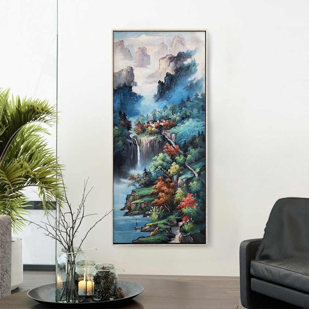 Wall Art Landscape Modern Canvas Painting Beautiful Artwork Decorative Oil Paintings Print On Canvas Wall Art By Numbers